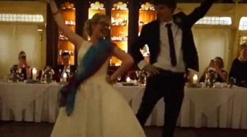 Watch this super cute British Couple dancing on Bollywood number \'London Thumakda\' at their wedding