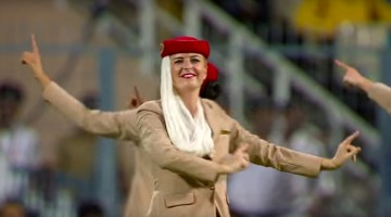 Watch Emirates airhostesses doing \\\'Bhangra\\\' for audiences at World T20 final