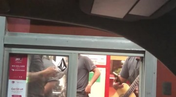 Surprise Celebrity in Drive Through