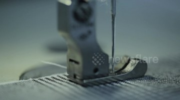 Strangely satisfying close up of sewing machine in action