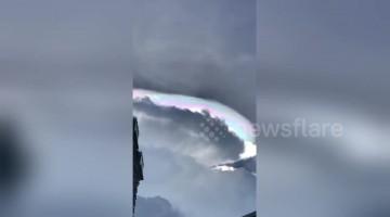 Rare 'fire rainbow' stuns residents of Kuala Lumpur