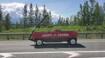 Big Red Wagon in Wasilla