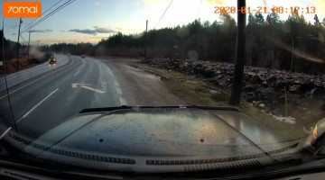 Lucky Driver Barely Misses Multiple Incidents