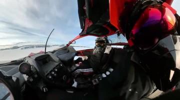 Towing a Snowboarder Around Muskoka Lake