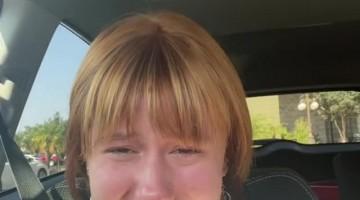 Woman Has Hilarious Reaction to Terrible Haircut
