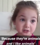 This girl is absolutely distraught about eating meat! 😂😆😩1-dot Video · Try Not To Cry