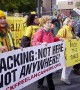 Hundreds protest at Preston Prison over jailing of anti-frackers