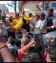 Several injured when stage collapses at Indian political rally