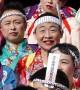 Running of the transvestites? Men run in makeup and women's clothing in weird Japanese festival