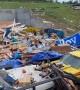 Massive property devastation after a monster tornado rips through Jefferson City, Missouri USA