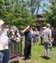 Various Memorial Day ceremonies take place in John Paul Jones Park, New York, USA