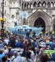 Blue boat on streets of central London as Extinction Rebellion stage latest climate protests