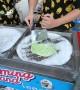 Oddly satisfying ice cream roll in Vietnam